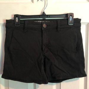 American Eagle Outfitters Shorts - American eagle black midi shorts